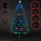 GREEN LED MULTICOLOR XMAS TREE WITH 8 FUNCTIONS 5 FT