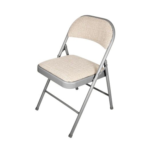 Delux padded folding chair-Cream SI-HH1008