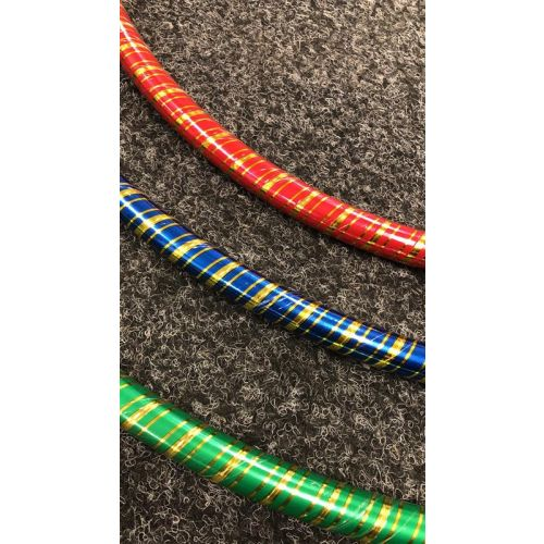 Golden  Stripe 50cm hula hoops (SI-041)
